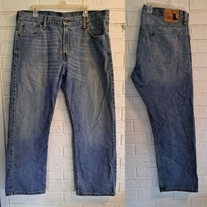 Levi's 569 distressed relaxed fit blue jeans 36x30